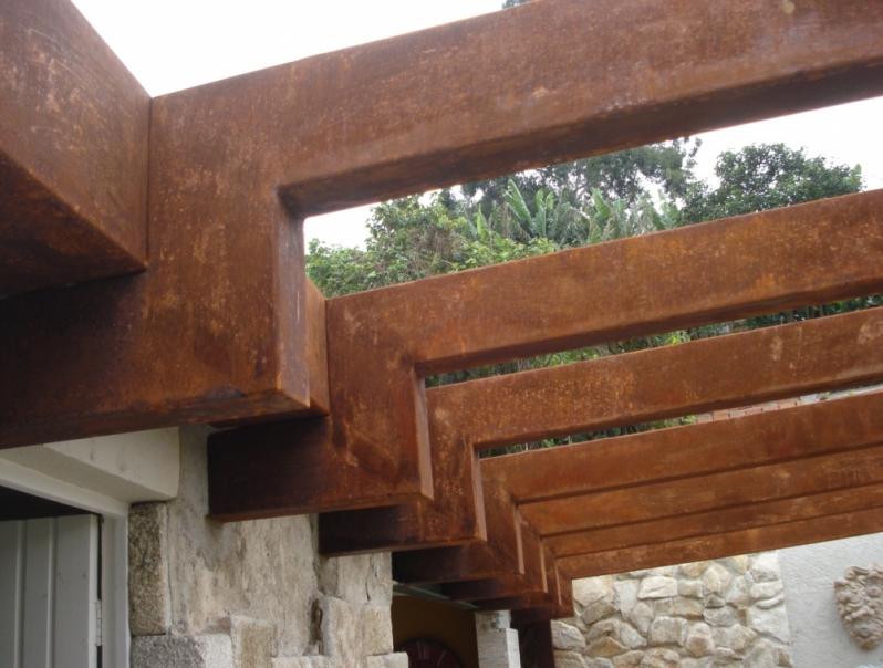 Aço Corten Estrutural Castelo - Aço Corten Perfurado