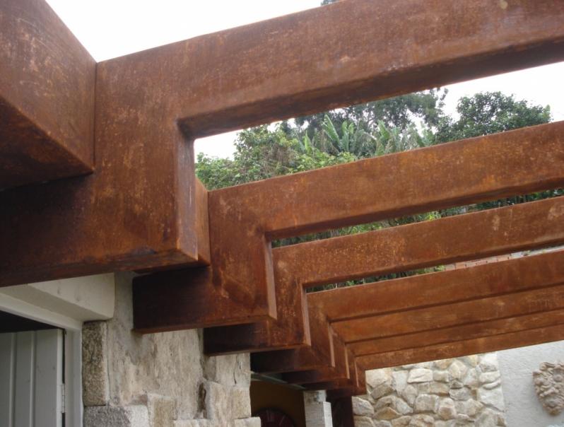 Aço Corten Estrutural Apiacá - Painel de Aço Corten