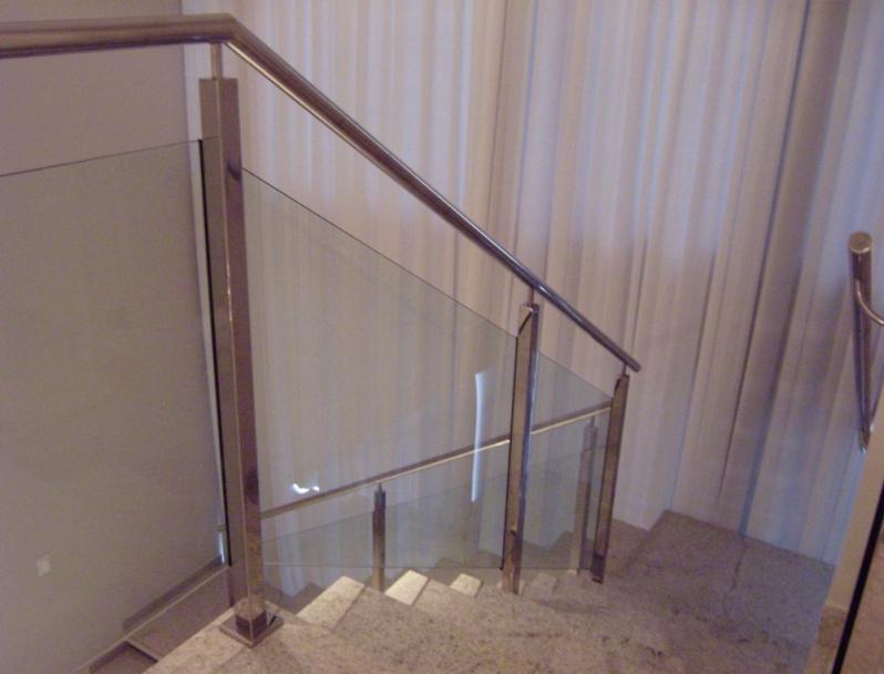 Corrimão de Aço Inox Presidente Kennedy - Corrimão para Escada de Inox
