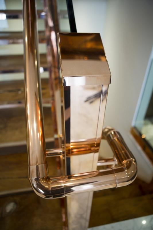 Corrimão de Escada em Aço Inox Melhor Preço Colatina - Corrimão de Inox para Piscina