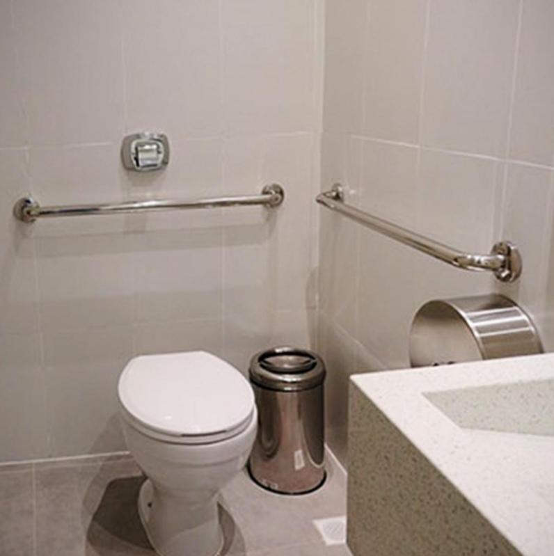 Corrimão de Inox para Banheiro Águas Formosas - Corrimão de Inox para Banheiro