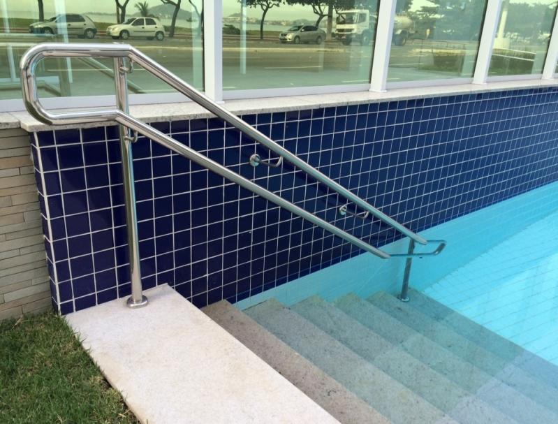Corrimão de Inox para Piscina Serra - Corrimão para Escada de Inox