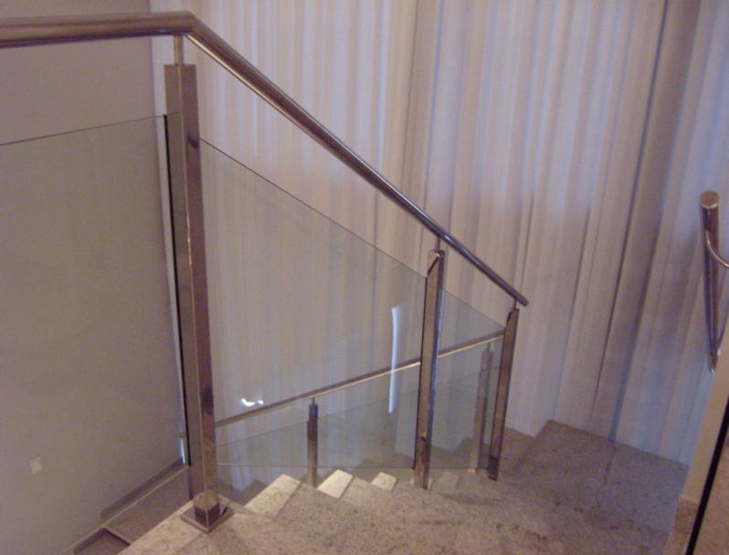 Corrimão em Aço Inox Baixo Guandu - Corrimão de Escada em Inox