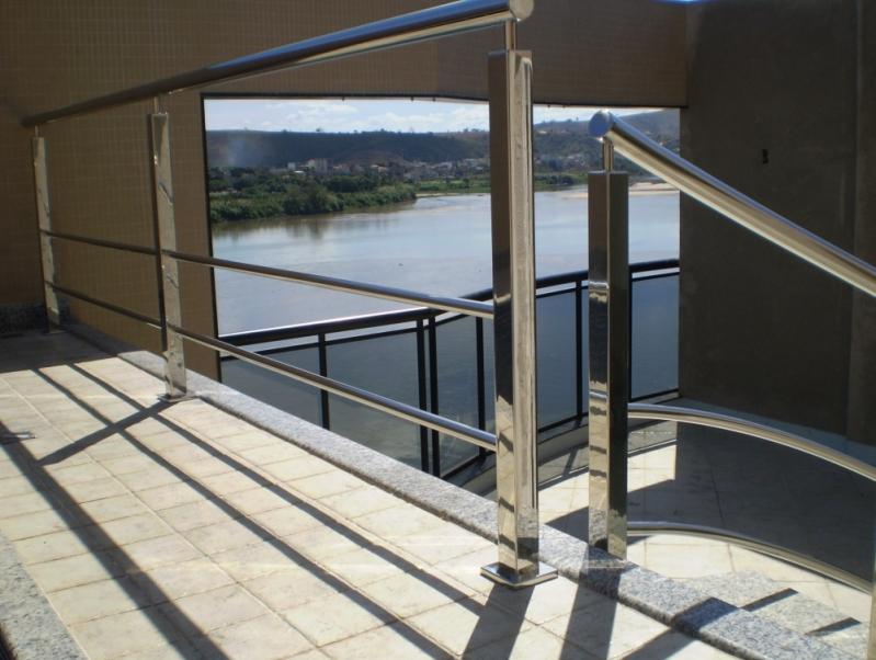 Corrimão para Escada de Inox Marilândia - Corrimão para Escada de Inox