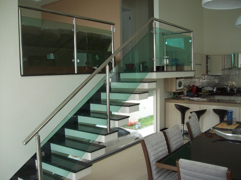 Corrimões para Escadas de Inox Nova Venécia - Corrimão para Escada de Inox