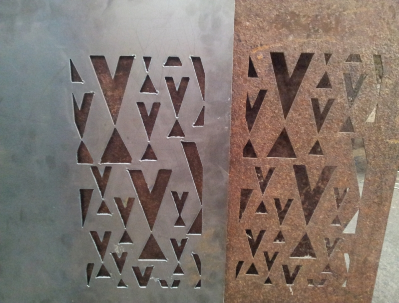 Empresa de Aço Corten Vazado Bom Jesus do Norte - Aço Corten Textura