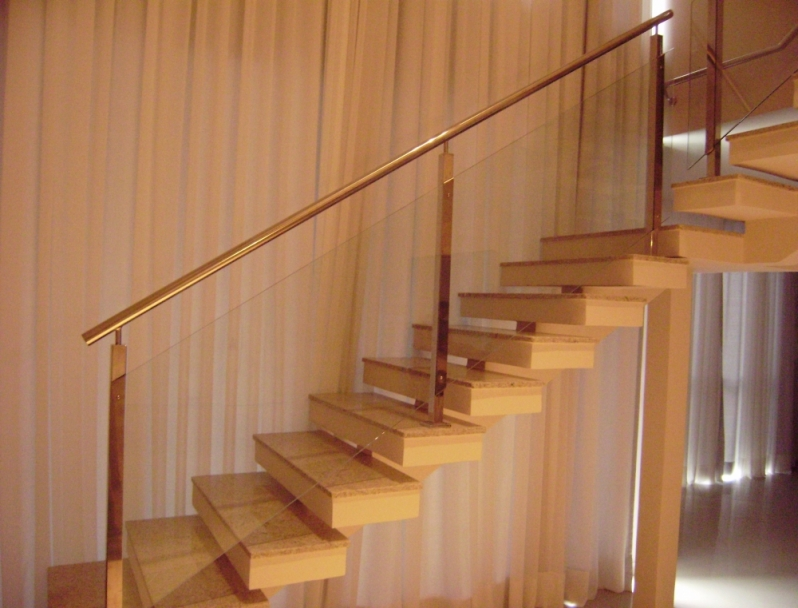 Fabricante de Corrimão em Aço Inox Vila Velha - Corrimão de Escada em Inox