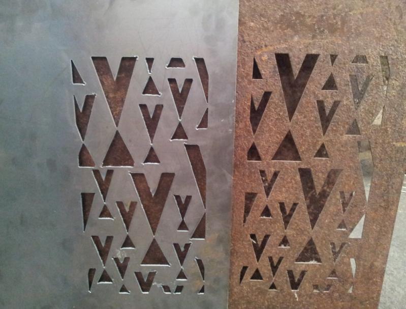 Placa de Aço Corten Águas Formosas - Placa Aço Corten