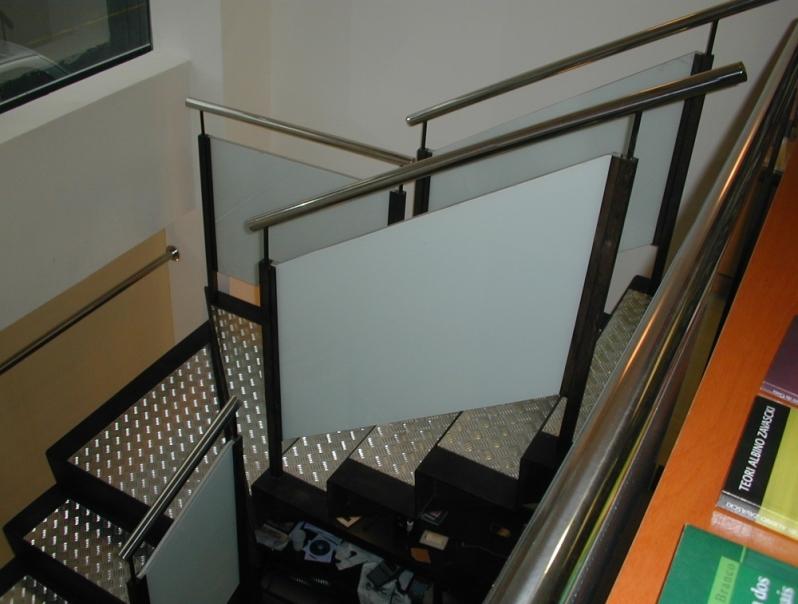 Quanto Custa Escada em Aço Inox Baixo Guandu - Escada de Aço Inox