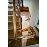 corrimão de escada em aço inox melhor preço Vila Velha