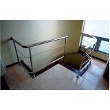 corrimão de escada em inox melhor preço Pancas