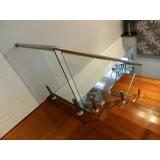 corrimão de escada em inox