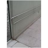 corrimão de parede em aço inox