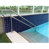 corrimão de inox para piscina Castelo