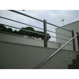 corrimão para escada de inox melhor preço Lajinha
