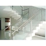 corrimões de escadas em aço inox Vila Velha