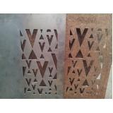 placa de aço corten Águas Formosas