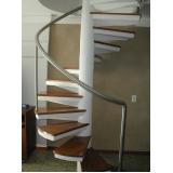 quanto custa escada em aço caracol Vila Pavão