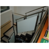quanto custa escada em aço inox Lajinha